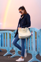 Stradivarius coat - Freyrs sunglasses - Converse sneakers - Choies blouse