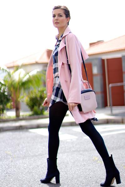 Sheinside dress - Menbur boots - Sheinside coat