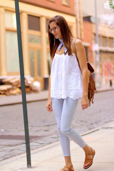 Zara blouse - itshoes bag - Panama Jack sandals - Stradivarius panties