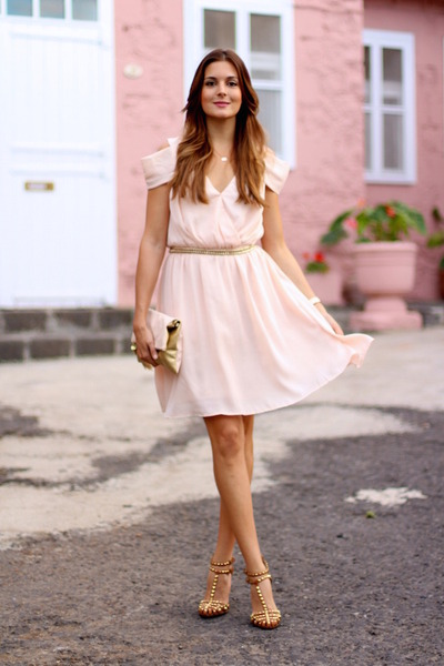 Sheinside-dress-h-m-belt-zara-heels-jane-koenig-necklace