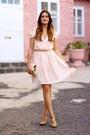 Sheinside-dress-h-m-belt-zara-heels-jane-koenig-necklace
