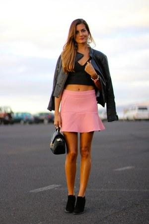 Zara top - Zara boots - Zara skirt - Zara earrings