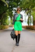 PERSUNMALL boots - AX Paris dress - Zara jacket - Primark bag