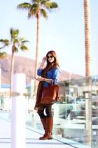 Massimo Dutti bag - Zara boots - Sheinside dress