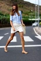 Lusstra bag - Ivyrevel skirt - Sheinside blouse - pull&bear flats