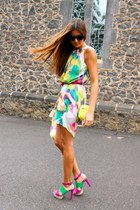 inlovewithfashion dress - Zara bag - Zara heels