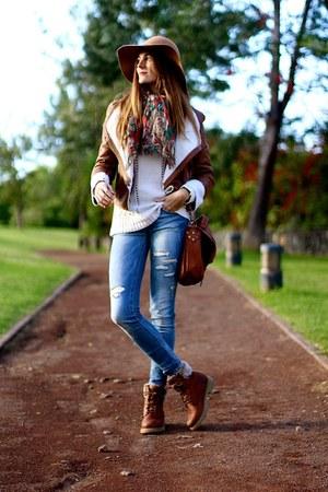 nowIStyle jacket - Panama Jack boots - Stradivarius jeans - nowIStyle bag