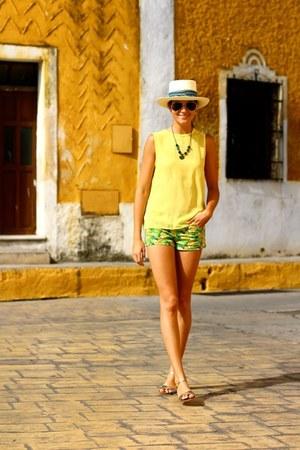 suiteblanco shorts - Sheinside blouse