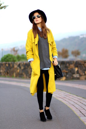 Zara coat - Zara boots - suchn sweater - Zara leggings - Ray Ban sunglasses