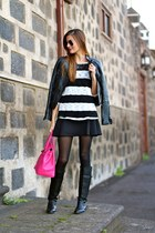 Zara jacket - nowIStyle boots - chicnova bag - Zara skirt