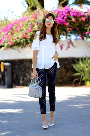 Michael Kors bag - christian dior sunglasses - Sheinside top