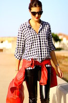 Zara jacket - Sheinside shirt - purificación garcía bag - dior sunglasses