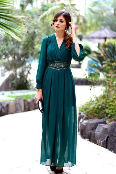 cloe bag - TFNC LONDON dress - cloe earrings - La Strada heels
