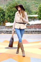 suiteblanco boots - suiteblanco hat - Sheinside cardigan