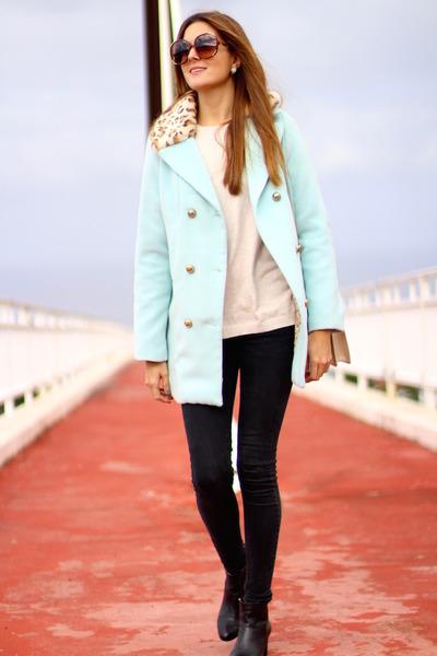 Chloe sunglasses - shein coat - Zara panties