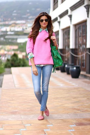 Stradivarius jeans - Zara sweater - Sheinside shirt