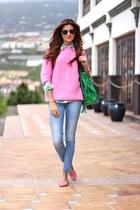 Stradivarius jeans - Zara sweater - Sheinside shirt