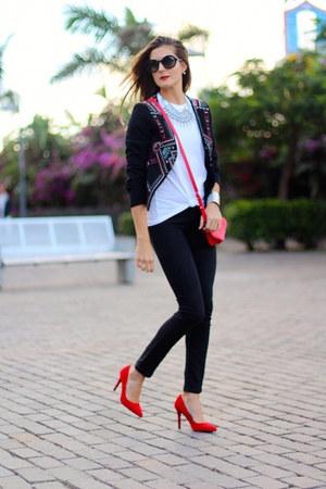Sheinside jacket - Jil Sander sunglasses - Bershka heels