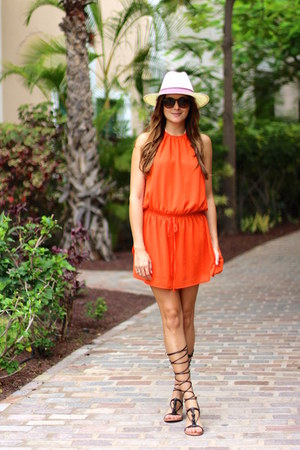 Sheinside dress - Mango heels - BohoChic hair accessory