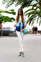 Sheinside blouse - imperio clandestino bag - Zara heels