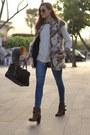 Zara-boots-zara-sweater-loewe-bag-choies-vest