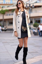 Zara boots - Sheinside dress - imperio clandestino bag - Stradivarius cardigan