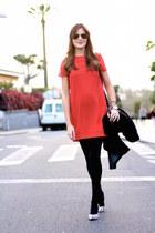 TFNC LONDON dress - Zara coat - PERSUNMALL bag - Choies heels