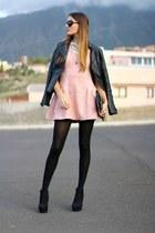 bubble gum Sheinside dress - Choies bag - christian dior sunglasses