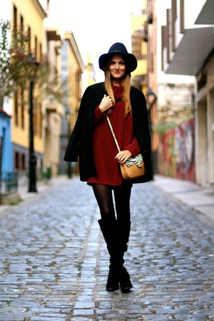 Zara boots - nowIStyle sweater - imperio clandestino bag