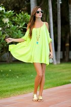 nowIStyle dress - Neon Boots sandals - Coqueta Complementos necklace