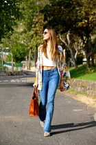 Mango jeans - Massimo Dutti bag - Panama Jack sandals - inlovewithfashion vest