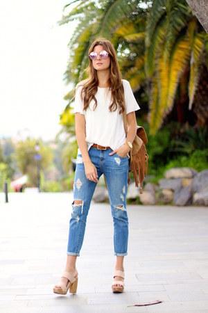 Mango jeans - itshoes bag - Mango t-shirt - itshoes heels