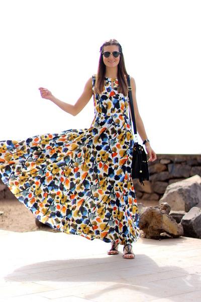Sheinside dress - Ray Ban sunglasses - Mango sandals