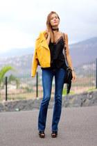 Zara top - Stradivarius jeans - Zara jacket - ASH bag