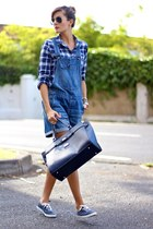 Zara shirt - Keds sneakers - H&M jumper