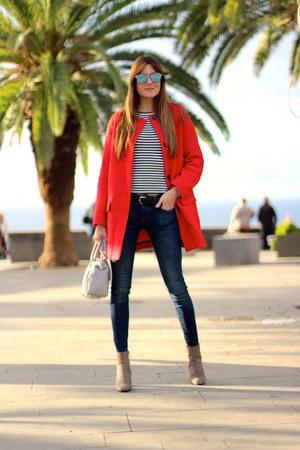 Zara boots - Zara coat - Zara jeans - Michael Kors bag