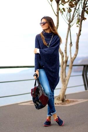 natura bag - Stradivarius jeans - natura loafers - natura cape