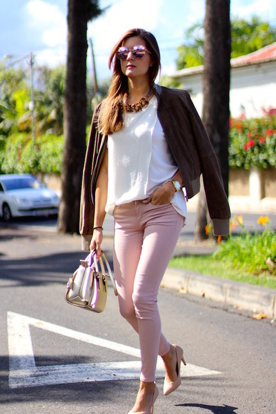 Zara jeans - Zara jacket - Mango shirt - Guess bag