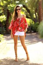 Choies blouse - Choies sandals