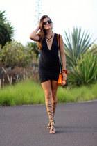 Sheinside dress - Mango sandals - romwe necklace