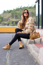 ChiChi London jacket - Bershka boots - Michael Kors bag - Fendi sunglasses