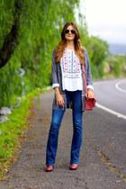 c&a blouse - Bershka boots - Choies coat - Stradivarius jeans