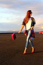 Stradivarius jeans - Zara bag - la estrada heels - Sheinside cardigan