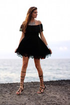 Sheinside dress - Mango sandals - Stradivarius necklace