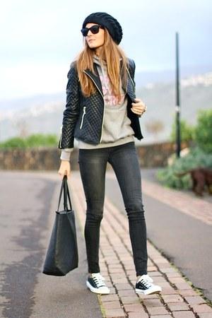 liketosurf hoodie - Sheinside jacket - Converse sneakers