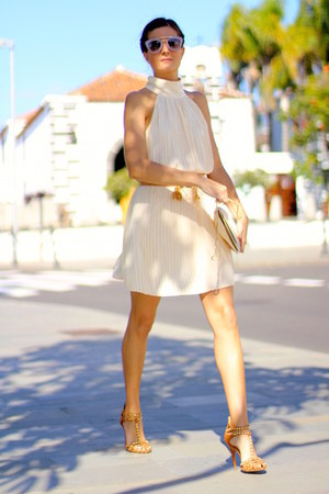 Sheinside dress - Prada sunglasses - Zara heels
