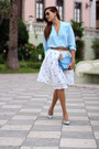 Romwe-skirt-tfnc-blouse-zara-heels-mango-earrings