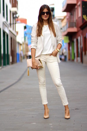 romwe blazer - Chanel sunglasses - Zara panties
