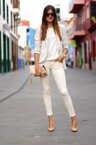 romwe blazer - Chanel sunglasses - Zara panties