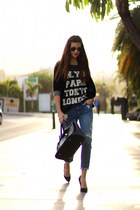 Mango jeans - Zara t-shirt - La Strada heels